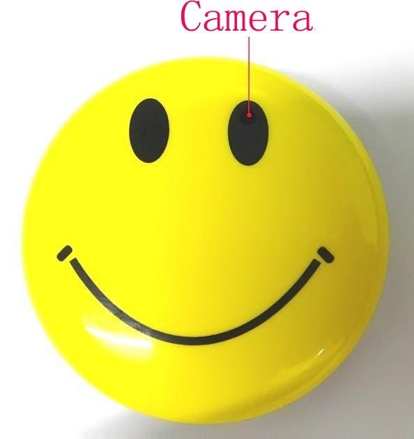 smile face anti spy equipment camera