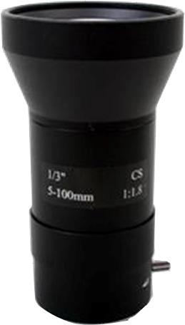 5-100 mm Manual Aperture Varifocal CCTV CS Mount Lens