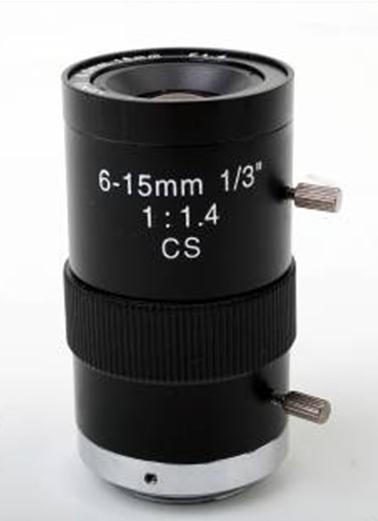 High Quality 6-15mm Auto Focus Aperture CCTV Camera Lens