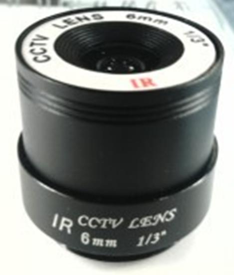 F1.6 6mm Focus Mega Pixels Lens for CCTV Video Security