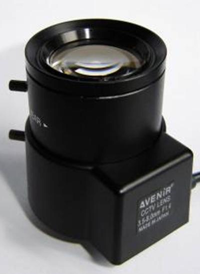 3.5-8mm Big Caliber Manual Zoom CCTV Lens For Banks Parking System