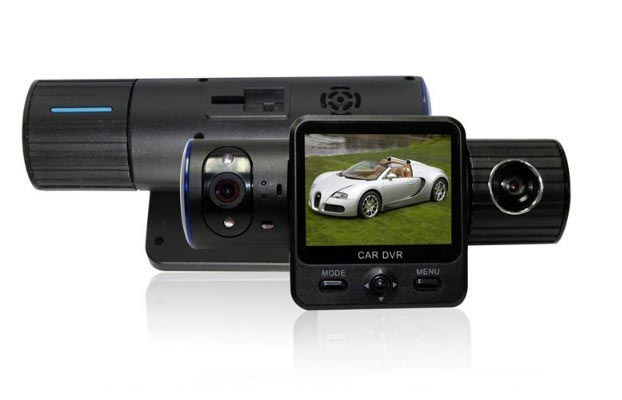 Full HD 1080P Car DVR with Dual Cameras + G-Sensor + GPS + IR Light