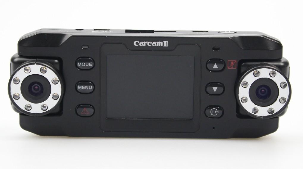 140 Dual Wide Angel and Dual Camera X8000 HD Car Camcorder GPS Night Vision G-Sensor Car DVR