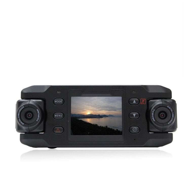 140 degree Dual Lens Car DVR + Rotatable Lens + GPS Module + 4G high-definition lens